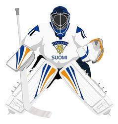 team finland hockey goalie vector image