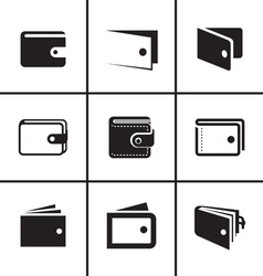 Wallet icons set vector image vector image