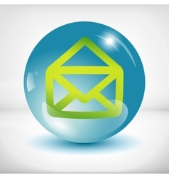 White mail icon vector image vector image