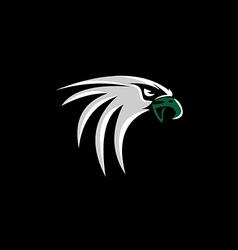 hawk eagle head logo vector image