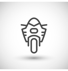 Modern sport motorcycle line icon vector image vector image