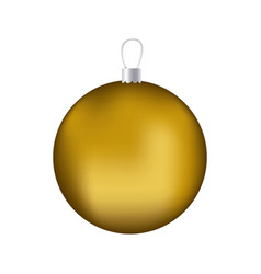 realistic golden garland christmas decorative vector image