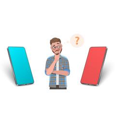 3d conceptual smartphone vector