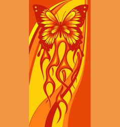 A butterfly made fire vector