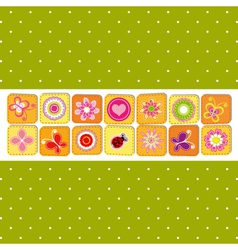 Abstract spring time flower vector