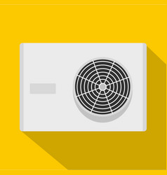 Air conditioner compressor unit icon flat style vector