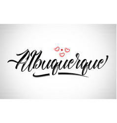 Albuquerque city design typography with red heart vector