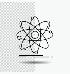 atom science chemistry physics nuclear line icon vector image