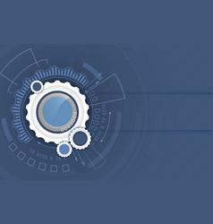 background abstract futuristic hi-tech digital vector image