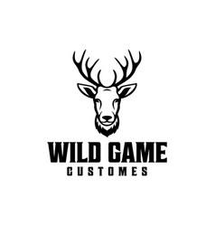 beautiful deer head vector image