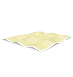 Blank unfolded paper map template three vector