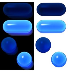 Blue Glass Buttons vector image