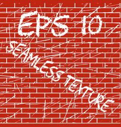 Brick wall grunge seamless texture vector