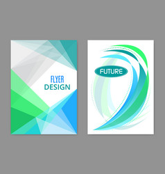 Business flyer and magazine futuristic cover vector