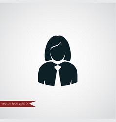 Businesswoman icon simple human user vector