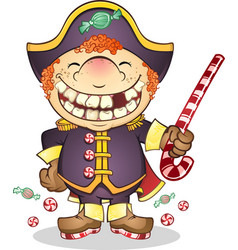 Captain candy cartoon character vector