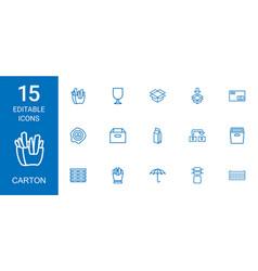 carton icons vector image