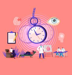 Characters undergoing hypnosis procedure vector