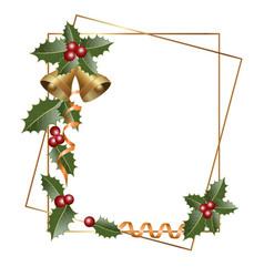christmas decorative elements on retro style vector image