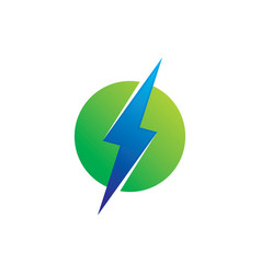 circle flazz eco electric logo vector image
