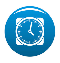 clock retro icon blue vector image
