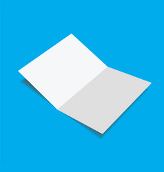 close up a blank folded leaflet white paper vector image