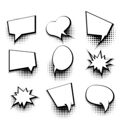 collection blank comic text template speech bubble vector image