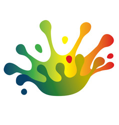 Color splash crown vector