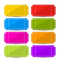 Colorful Ticket Set vector image