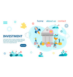 concept income growth and profitable vector image