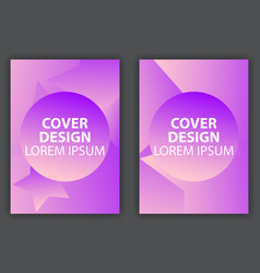 cover design poster with a minimalist design vector image