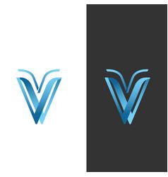 Creative letter v modern alphabet symbol vector