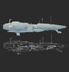 Creative ship design vector