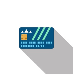 Credit card with shadow vector