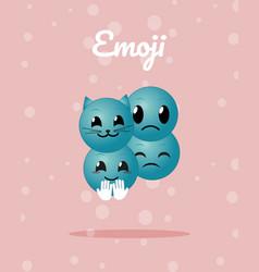 Cute emojis cartoons vector