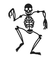 dancing skeleton icon simple style vector image