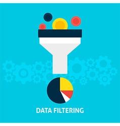 Data Filtering Flat Concept vector
