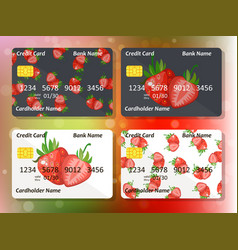 design for credit card vector image