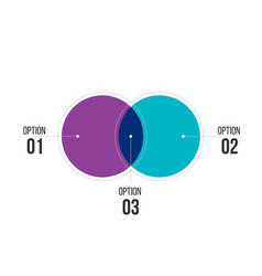 Diagram infographics for two circle design and vector