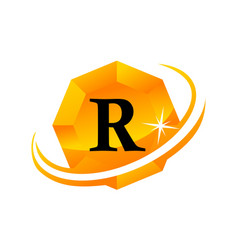 Diamond swoosh initial r vector