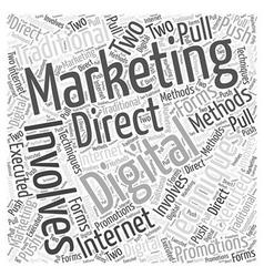 Digital Marketing Word Cloud Concept vector