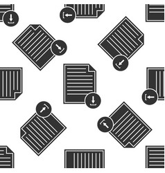 document with download sign icon seamless pattern vector image