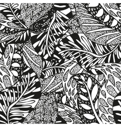 Doodling hand drawn seamless background vector