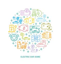 Electric car conceptual background vector