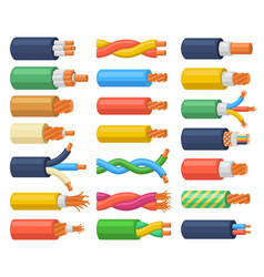 Electrical cable wires flexible electricity vector