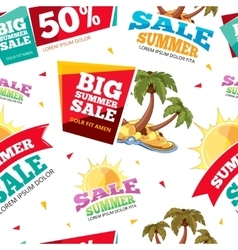 emblems for big summer sales vector image