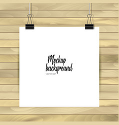 empty paper sheet square format paper with vector image