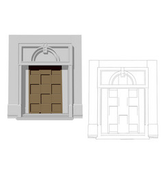 Entrance door vector