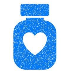 Favorite medication grunge icon vector
