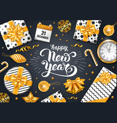 Festive new year greeting card vector